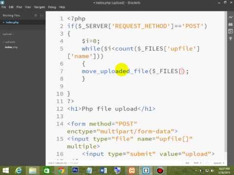 Simple PHP Multiple File Uploading Using While Loop