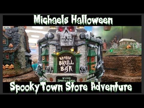 spooky town store walk through michaels halloween 2017 - Spooky Halloween Store