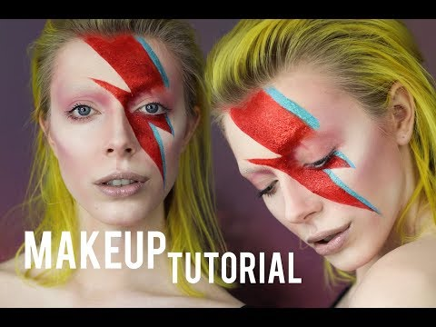 DAVID BOWIE Aladdin Sane - Makeup Tutorial | Leigh Dickson