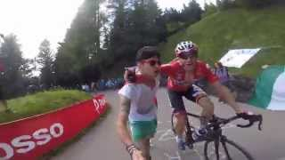GoPro HD: Adam Hansen Hug a Fan (Me) During the Climb of Zoncolan
