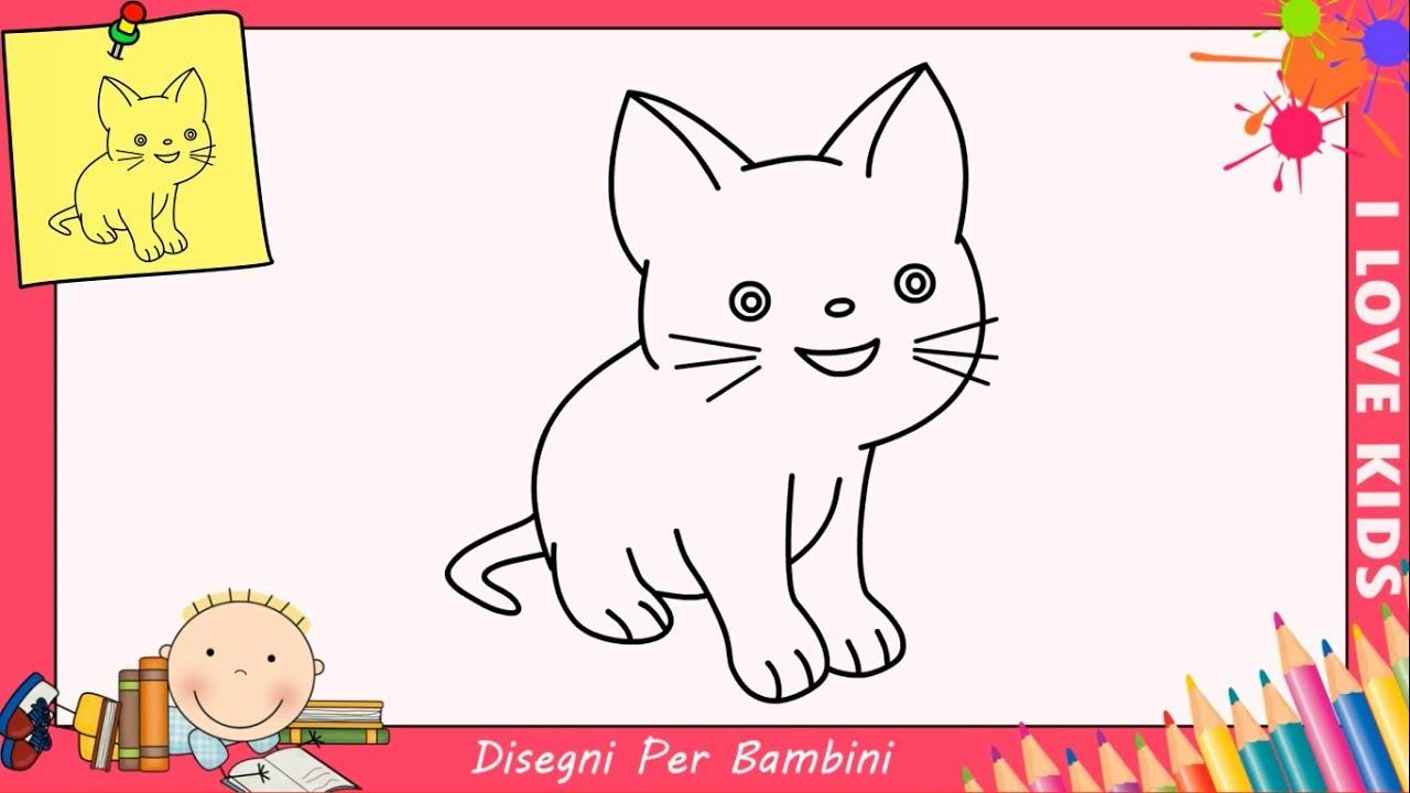 Come disegnare un gatto facile passo per passo per bambini for Conigli facili da disegnare