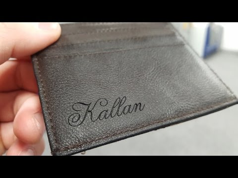 Laser Engraving Leather Wallet Galvo Vs Plotter Youtube