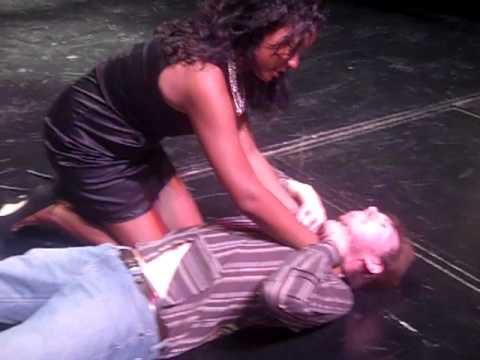 erotic man choking woman during sex