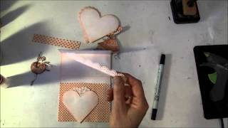 How To Make A Easel Scaloped Heart Card