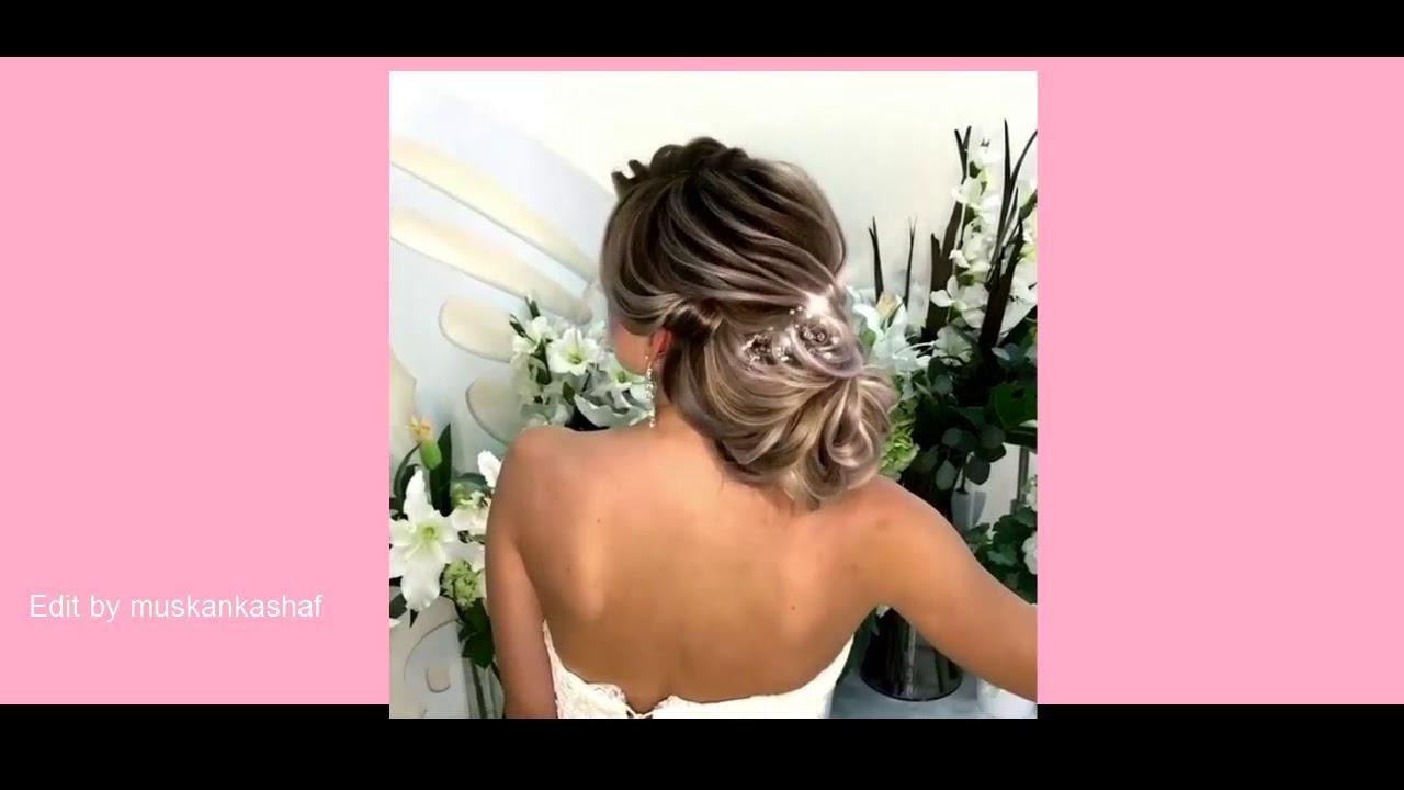 wedding prom hairstyles for medium long hair || Updo tutorial ...