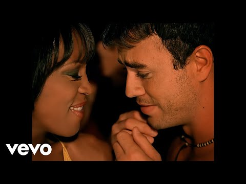 Whitney Houston, Enrique Iglesias - Could I Have This Kiss Forever (Official Video)