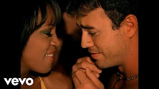 Смотреть клип Whitney Houston Ft. Enrique Iglesias - Could I Have This Kiss Forever