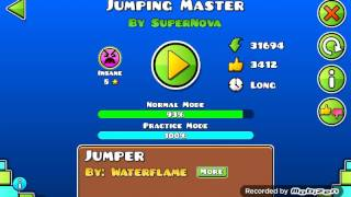 EASY 8☆ SECRET WAY!! Geometry dash Jumping master
