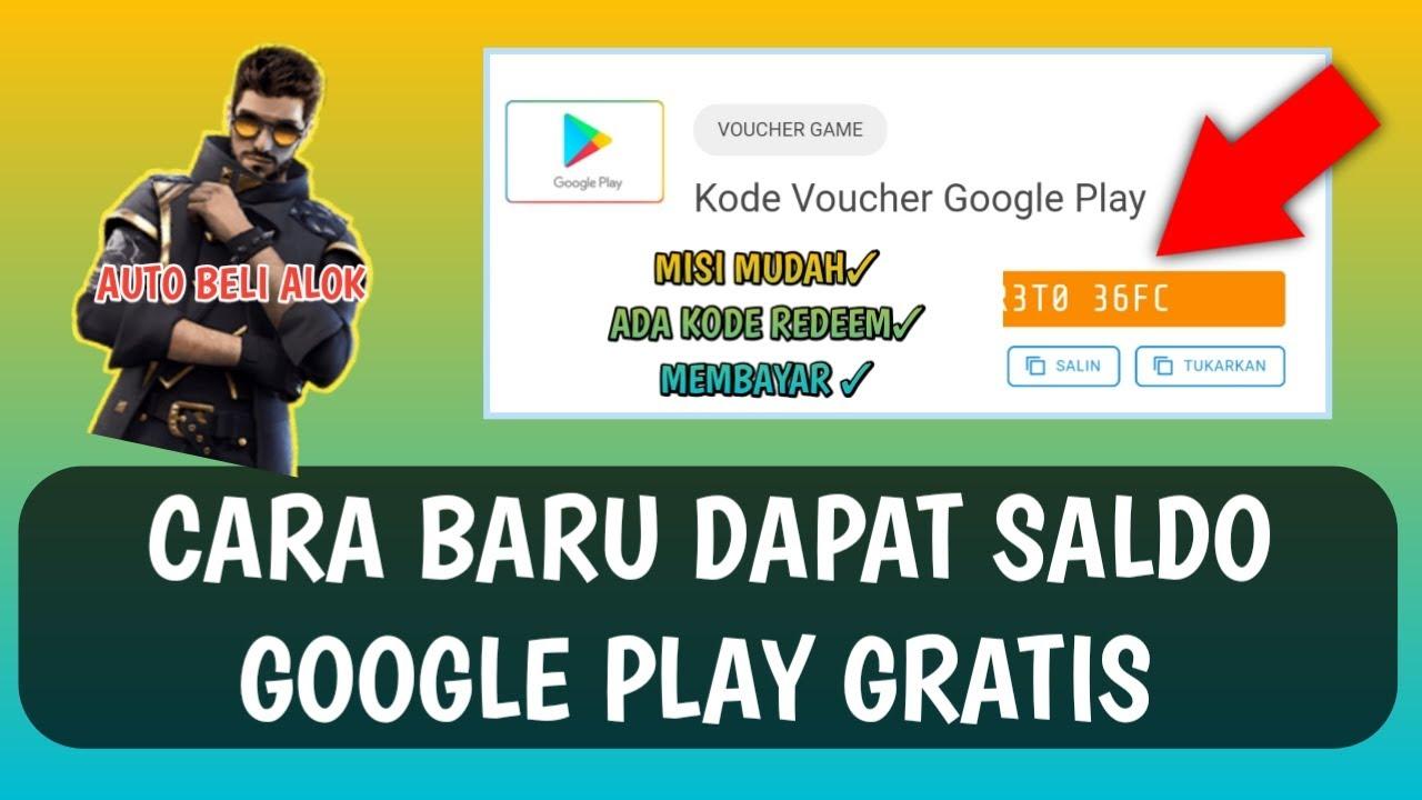 Cara Baru Dapat Saldo Google Play Gratis Aplikasi Penghasil Saldo Google Play 2020 Youtube