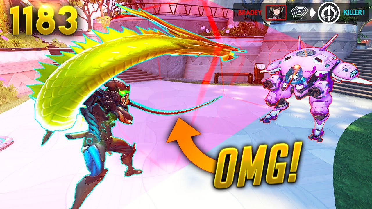*WTF* Dva ATE Genji's ULT?! | Overwatch Daily Moments Ep.1183 (Funny and Random Moments)