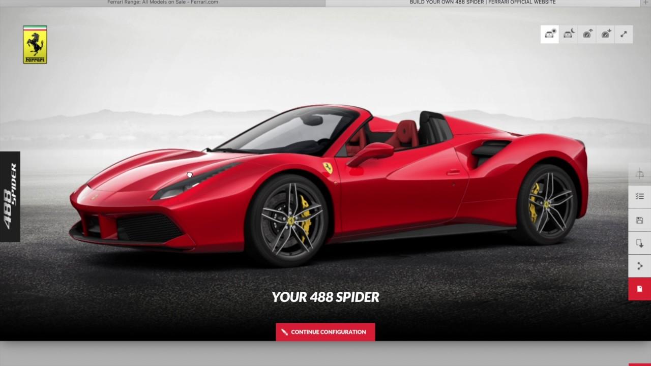 Ferrari 488 GTB Spider - Configurator - ASMR Whisper - YouTube
