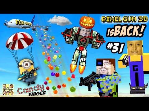 Candy Deathmatch Wager! Dad vs. Kids PIXEL GUN 3D is BACK!! (A Sweet FGTEEV Fight - Part 31)