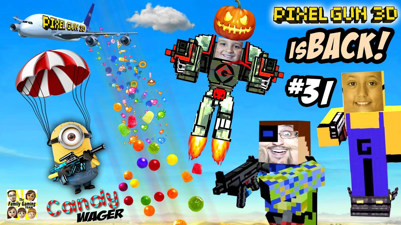 Candy Deathmatch Wager! Dad vs. Kids PIXEL GUN 3D is BACK!! (A Sweet ...