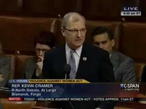 Congressman Kevin Cramer Speaks On The House Floor In Support Of The Violence Against Women Act