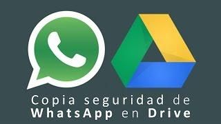 Crea una copia de seguridad de los chats de WhatsApp en Drive