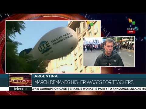 Argentinian Teachers on Strike Against President Macri