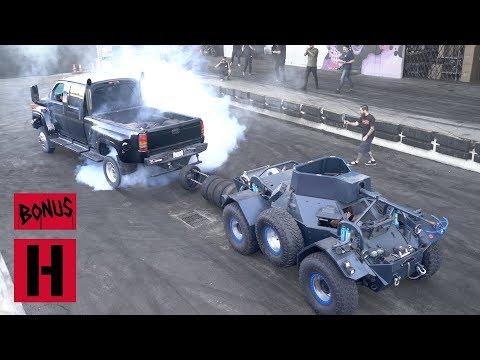 Duramax Diesel Topkick 4500 vs. Tank Tug-o-War!