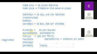Corso di esperanto per italofoni. Lezione 5 (parte 1). 21/04/2020.
