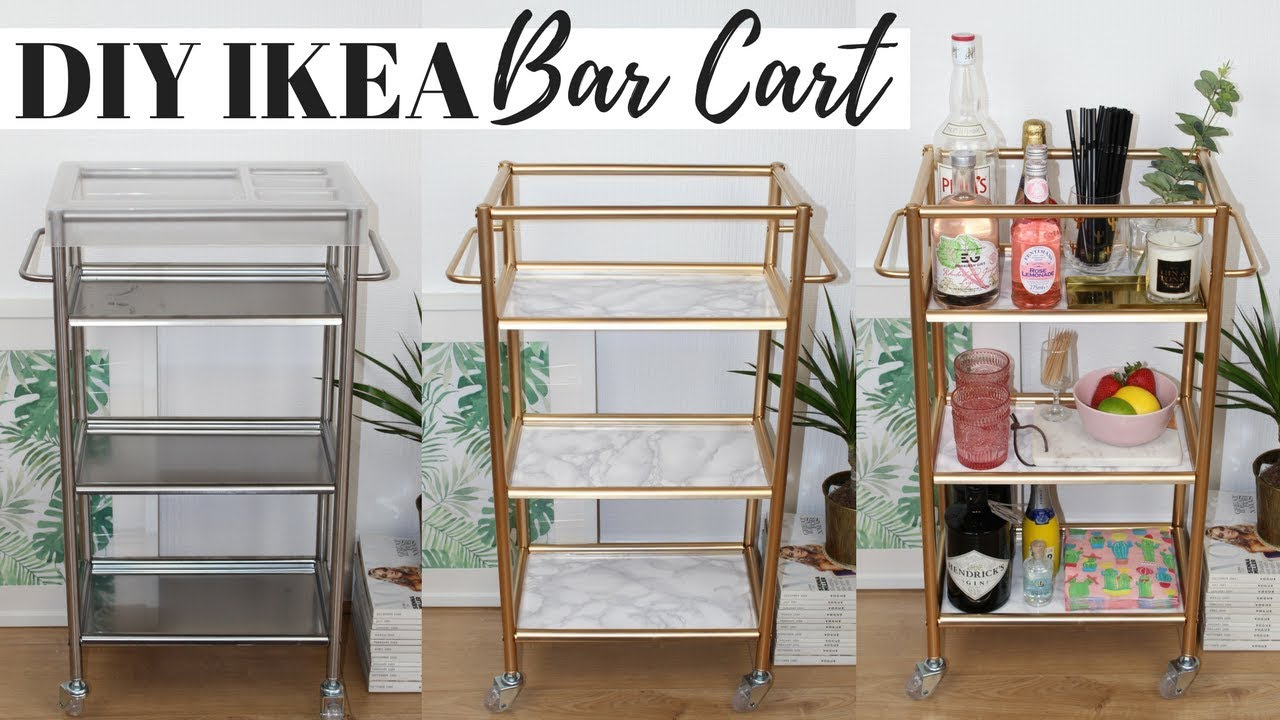DIY BAR CART IKEA HACKS   Ep 5 - Super Easy and Affordable ...