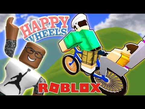 Playing Happy Wheels In Roblox Youtube