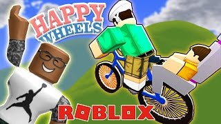 PLAYING HAPPY WHEELS IN ROBLOX