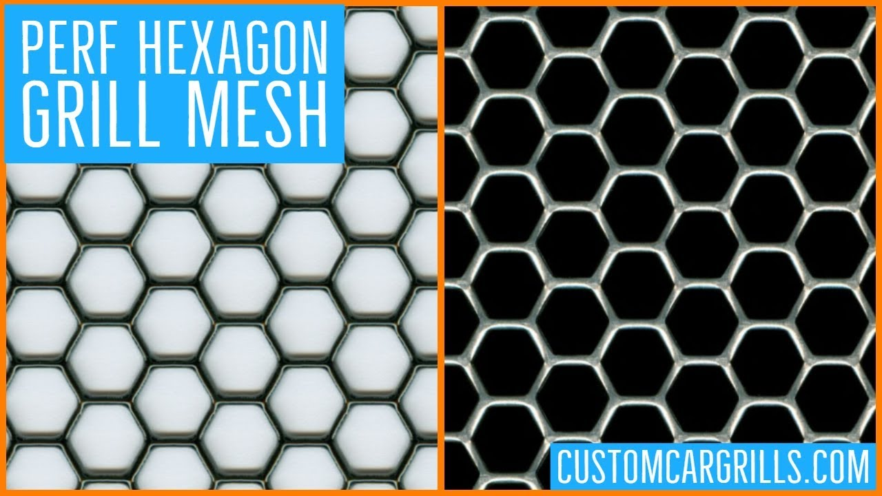 Perf Hexagon Universal Aluminum Grill Mesh - by customcargrills com