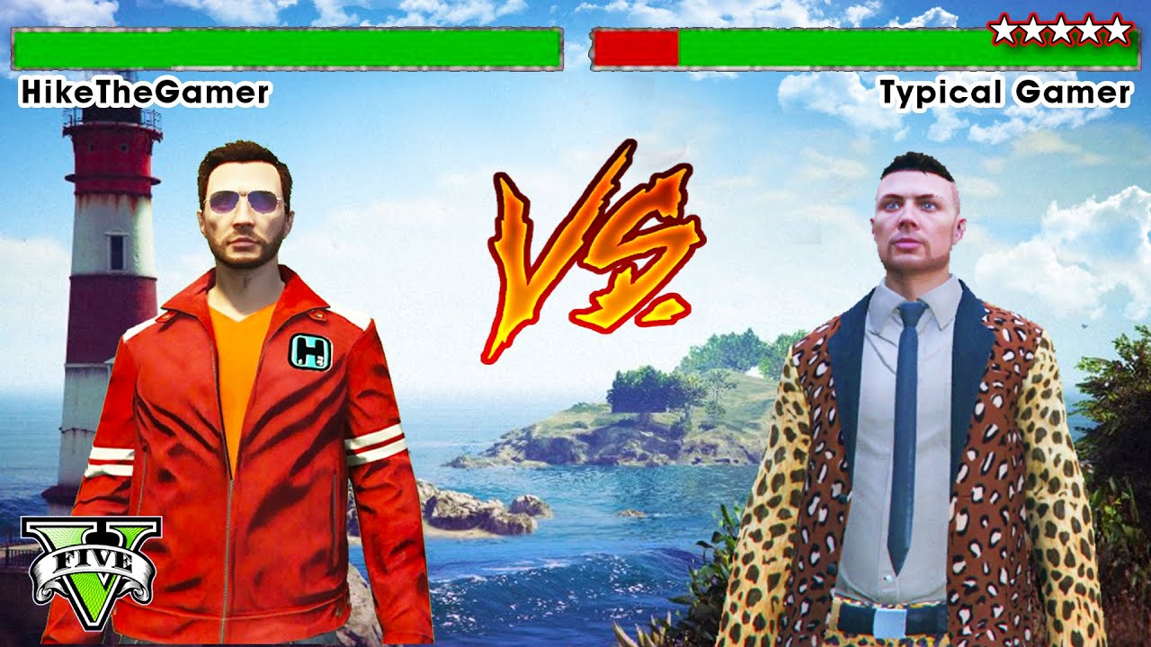 GTA 5 Online VS CHALLENGE! - Hike The Gamer VS Typical Gamer GTA - GTA 5  Funny Moments (GTA 5 PS4)