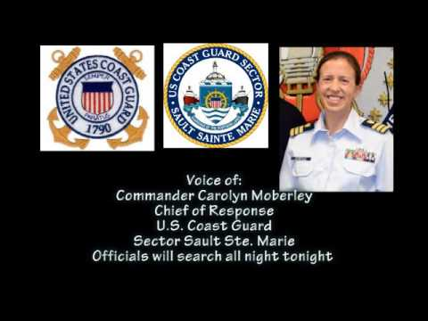 Sector Soo USCG Commander Carolyn Moberley on massive search for missing boat with 3 people aboard