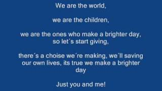 We are the world karaoke mit lyrics
