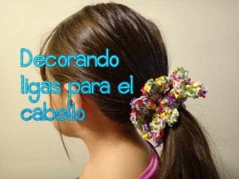 Decorando ligas para el cabello (crochet,ganchillo)