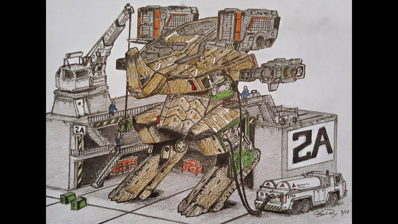 How To Draw A Rhino War Robots Youtube