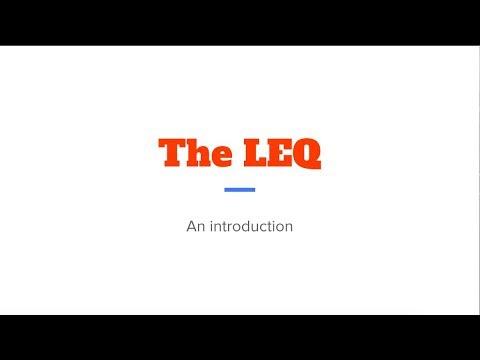 LEQ lesson #1