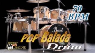 Pop Balada 70 bpm - Drum rhythm in ballad