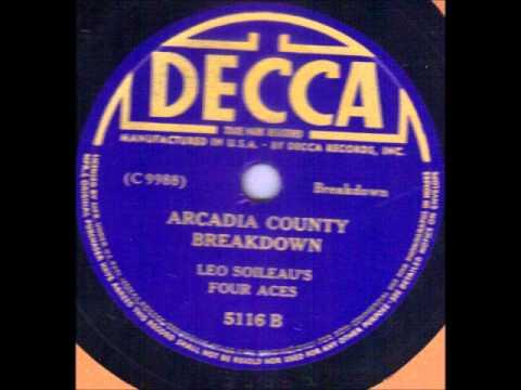 Leo Soileau Arcadia County Breakdown Decca 5116 Cajun 78 rpm