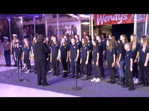 Severance Middle School sings the Star Spangled Banner