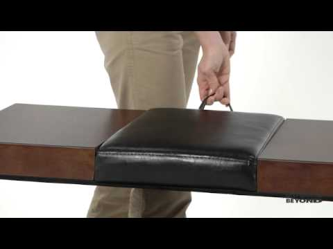 Lift Top Storage Ottoman At Bed Bath U0026 Beyond   YouTube