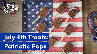Easy Ice Cream Sandwich Pops For Your 4th Of July Party | Store Bought - Don't Care | Scary Mommy