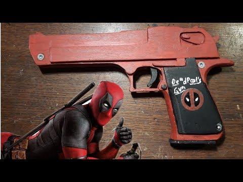 Making Deadpool's Desert Eagle!! [Rubberband Gun] - Free templates