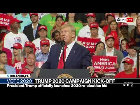 President Trump holds reelection rally in Orlando, Florida | ABC News