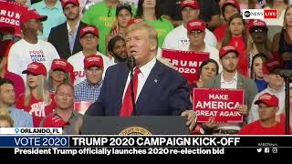 President Trump holds reelection rally in Orlando, Florida   ABC News