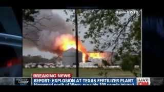 Explosion At Texas -- Explosion hits fertilizer plant north of Waco, Texas