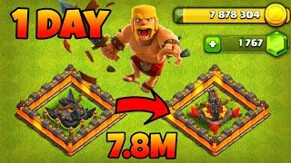 1 Day - 1 X-Bow update,New Army Collect 7.8M Coin in one Day Clash Of Clans(Hindi)Sam1735