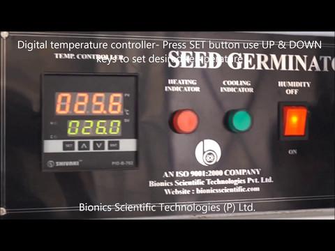 Seed Germinator With Digital Light Timer