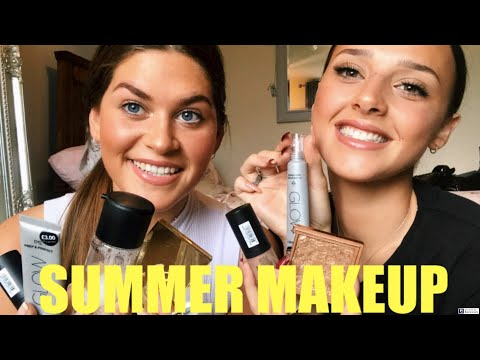 Holiday Inspired Glowy Makeup Tutorial | Lucy and Anna thumbnail