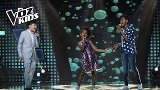 Jorge, Azuquitar y Brayan cantan Fuerte | La Voz Kids Colombia 2018