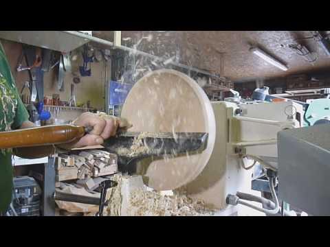Fabrication d'une coupe en bois(TOURNAGE)