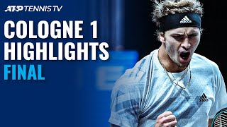 Alexander Zverev vs Felix Auger-Aliassime | Cologne 1 2020 Final Highlights