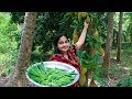 Vegetable Recipe: Okra (Ladies Finger) Fried & Paste Recipe | Village Food Life
