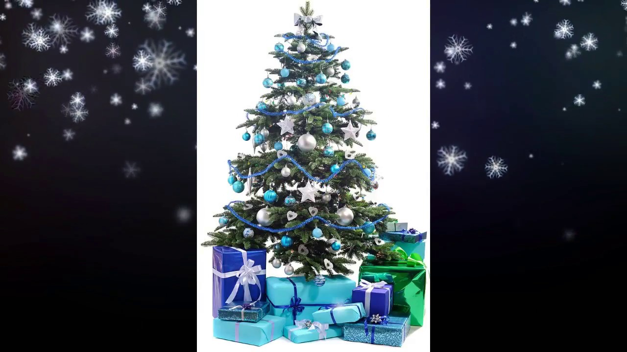 christmas tree decorating ideas blue and silver youtube saveenlarge christmas tree decorating ideas turquoise blue bronze - Blue Christmas Decorations Ideas