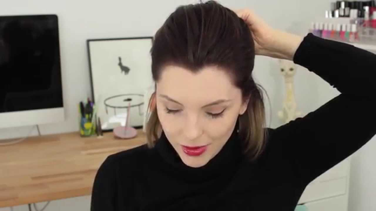 Evening hair style tutorial for short hair with Essie Button   Advertisement for ALL THINGS HAIR